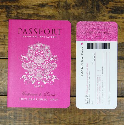 passport invite template passport to travel card style wedding invitation by