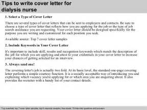 Hemodialysis Cover Letter by Dialysis Cover Letter