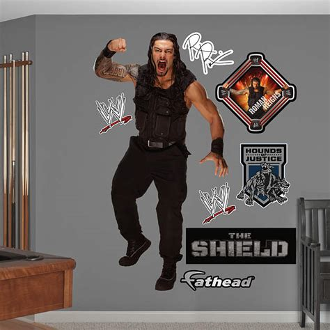 Custom Fatheads Wall Stickers life size roman reigns wall decal shop fathead 174 for wwe