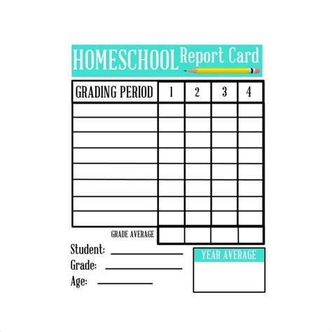 6th grade report card template homeschool report card template free 2016 sanjonmotel