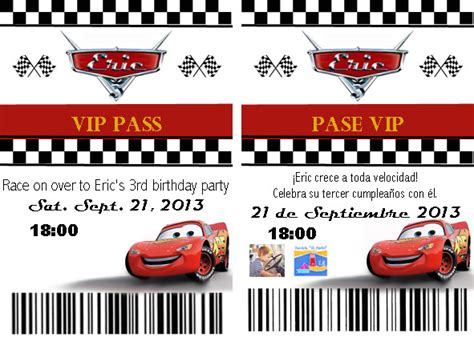 disney cars invitation templates cars pit pass invitation template and tutorial