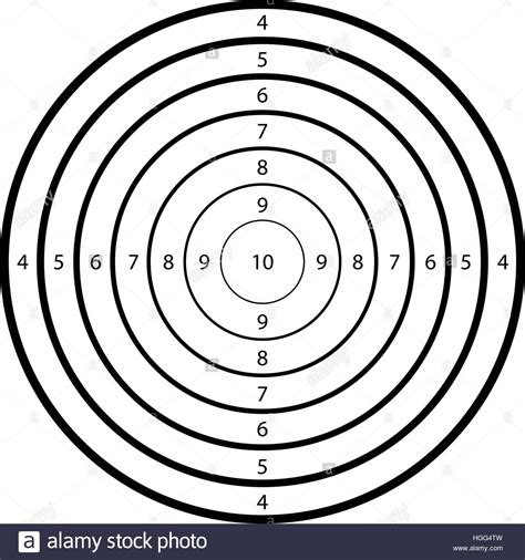 Blank Template For Sport Target Shooting Competition Clean Target Stock Vector Art Shooting Target Template