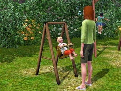 park swings for babies my sims 3 blog toddler playground swing by danjaley