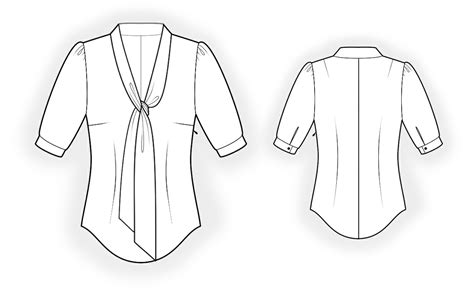 drawing blouse pattern blouse sewing pattern 4286 made to measure sewing