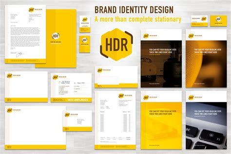 brand identity templates for indesign european format