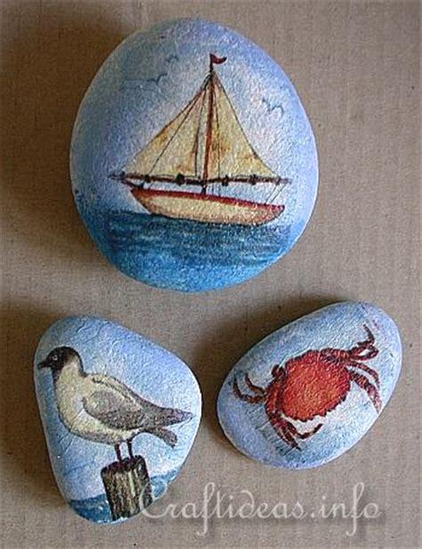 Decoupage Rocks - decoupage stones