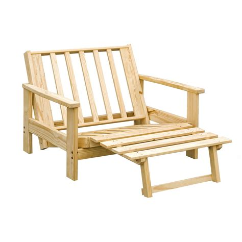 twin futon chair frame adirondack twin lounger futon frame 113125 living room