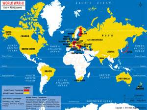 2 World War Map by Which Countries Won World War Ii Answers