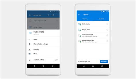 dropbox mobile dropbox for android gets offline folder support