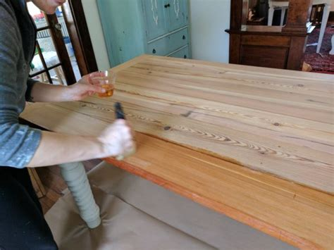 how to seal wood table how to seal reclaimed wood finding silver pennies