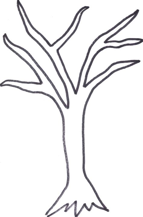 Printable Tree Trunk Here Is The Tree Outline If Anyone Wants To Cut It Out Or Print It Out Tree Cutout Template