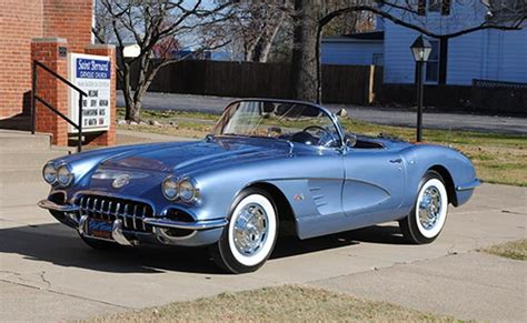 vintage corvette blue saint bernard classic giving away 1960 corvette roadster