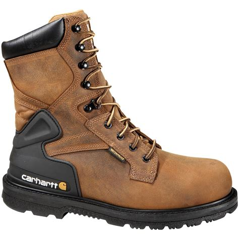 mens carhartt boots s carhartt 174 8 quot waterproof work boots bison brown