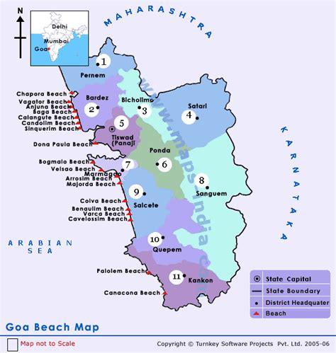 resort goa map goa beaches in goa goa beaches map