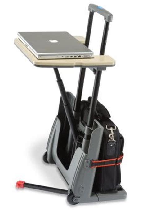 mobile luggage desk carries your office on the move gearfuse