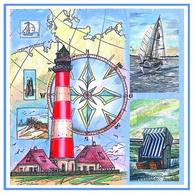 Napkin Decoupagetissue Decoupagelighthouse Sea lighthouse paper napkins gney do designs