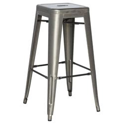 gunmetal bar stool for rent in nyc partyrentals us gunmetal bar stool monarch event rentals