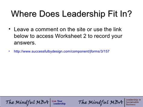 Mba Leadership Development Programs by The Mindful Mba Leadership Development Study March
