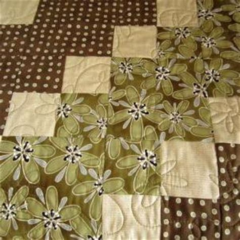 Brown And Green Quilt by Patchwork Quilt Brown And Green Diagonal Handmade