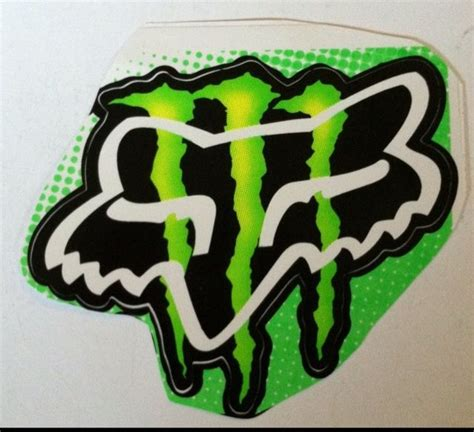 Monster Energy Yellow Sticker by Fox Racing And Monster Energy Logo Large Jpg 1376192008