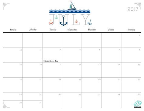 printable calendar imom 2017 cute and crafty 2017 printable calendar imom