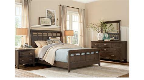 Hammond Bedroom Furniture Hammond Hill Brown 5 Pc King Sleigh Bedroom Transitional