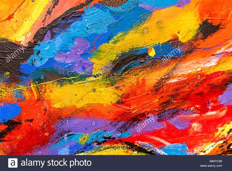 colorful painting a vibrant and colourful and acrylic abstract painting
