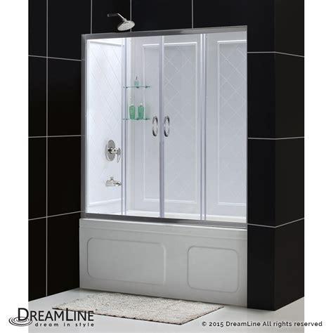 Shower Door Enclosure Kits Dreamline Showers Visions Sliding Tub Door Backwalls