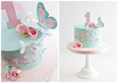 butterflies roses  bunting st birthday cake cakes pinterest buntings birthday cakes