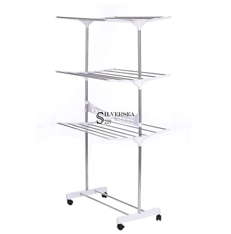 Stainless Steel Drying Rack Laundry by Large In Outdoor Folding Laundry Rack Clothes Drying Stand