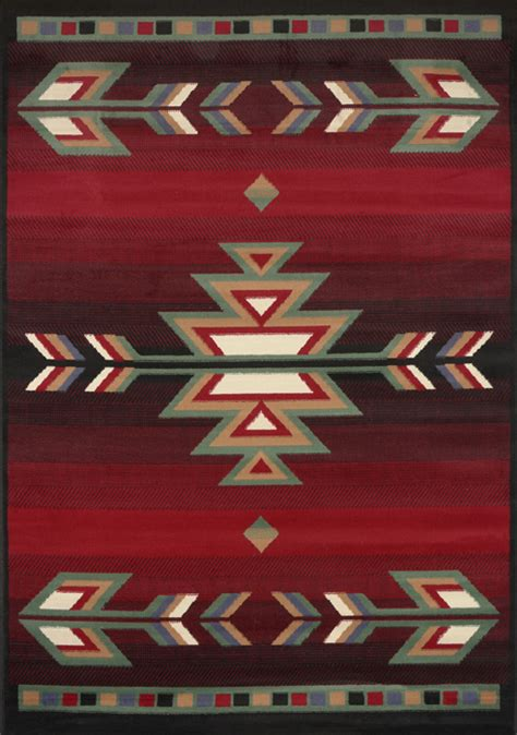 Lodge Style Area Rugs by Rustic Southwestern 5x8 Arrows Lodge Style Cabin Area Rug