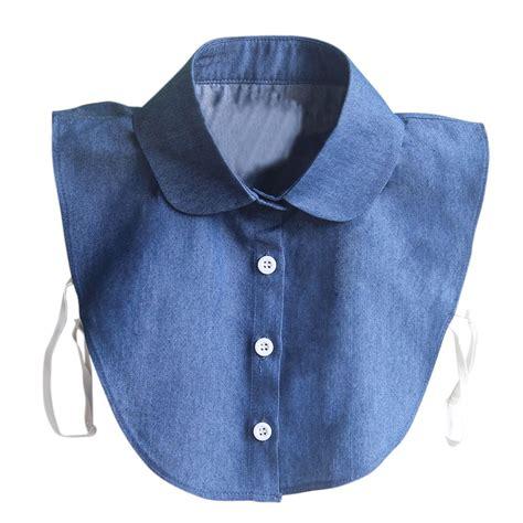 Fashion Collar 1 fashion detachable collars blue lapel collar clothes accessories detachable shirts