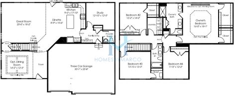 landon homes floor plans landon model in the the conservancy subdivision in