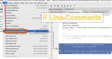 xamarin adsense android studio aus kommentieren von linien und code