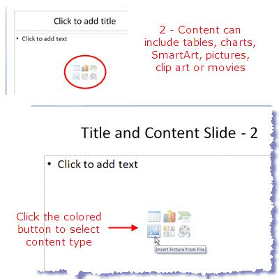 powerpoint layout title and content slide layout types in powerpoint 2007