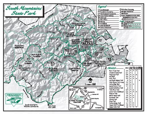 map of carolina mountains south mountains state park map connelly springs nc 28612