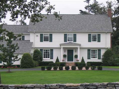 colonial house plans with portico garrison colonial what is garrison pinterest