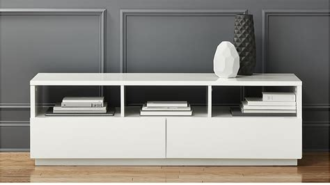 cb2 media console chill white media console cb2