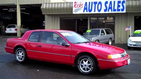 how things work cars 1991 mercury cougar free book repair manuals 1991 mercury cougar sold youtube