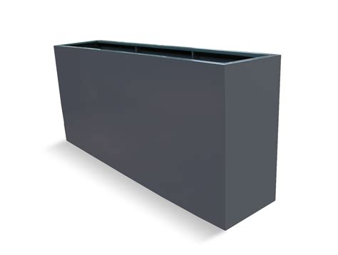 Large Planter Boxes potsdam charcoal fiberglass planter box large