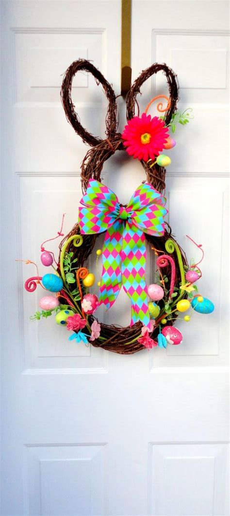 wreath decorations diy easter decorations 17 ideas how to make a cute easter door wreath style motivation
