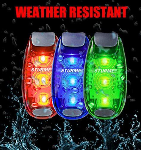 safety lights for runners sturme led safety light clip on strobe running lights for