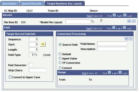 peoplesoft file layout definition table defining outbound maps