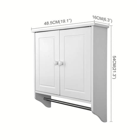 bathroom cabinet with towel rail white wall mounted wooden cabinet doors shelf unit towel