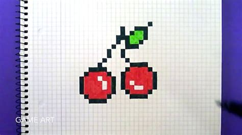 Pixel Art Comment Dessiner Des Cerises Le Monde Du