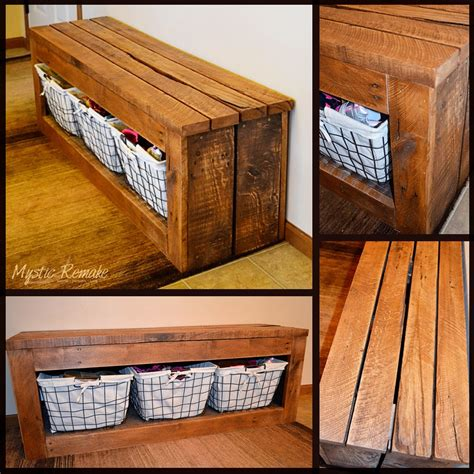 storage bench made from pallets the best 30 diy entryway bench projects page 2 of 3