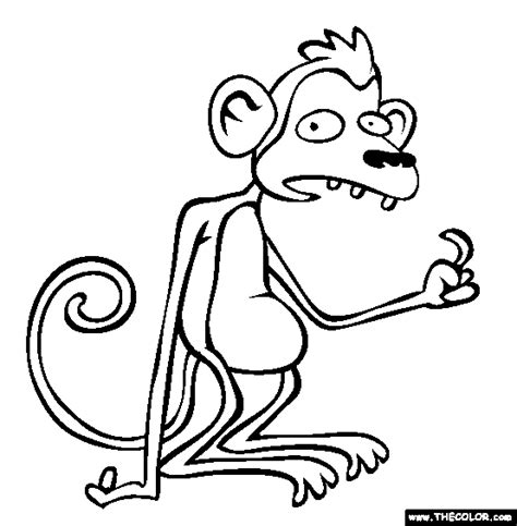 chinese year of the monkey coloring page chinese astrology monkey coloring page chinese monkey