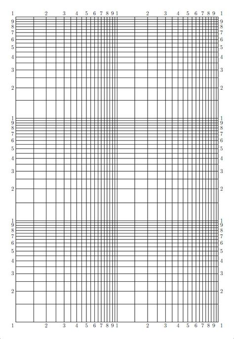 printable log log graph paper pdf blank graph paper 9 download free documents in pdf