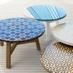Mosaic Coffee Table Elegantly Ornate Outdoor Furnishings Mosaic Tiled Coffee