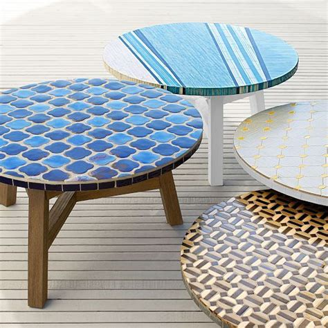 Mosaic Coffee Table by Elegantly Ornate Outdoor Furnishings Mosaic Tiled Coffee